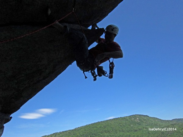 2nds ascent of P2 of The Cleaver