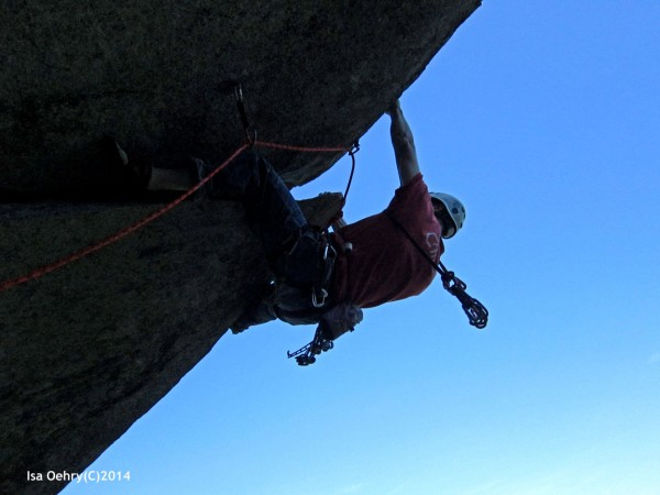 2nd ascent of P2 of the cleaver