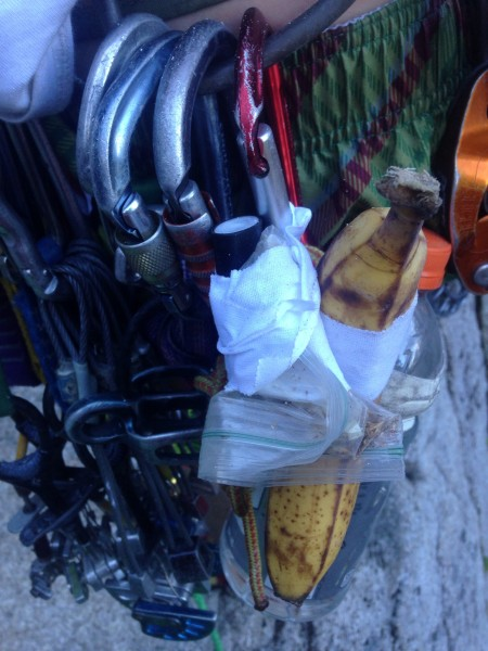 Banana, ziplock of pre mixed weed & tobacco, lighter, & 0.5L water all...