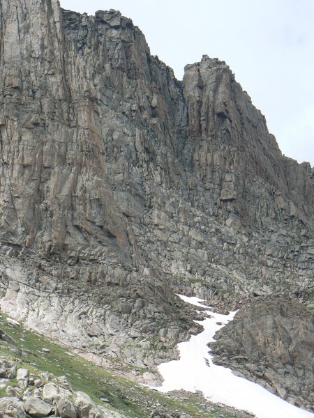 Choss wall on Mt Evans