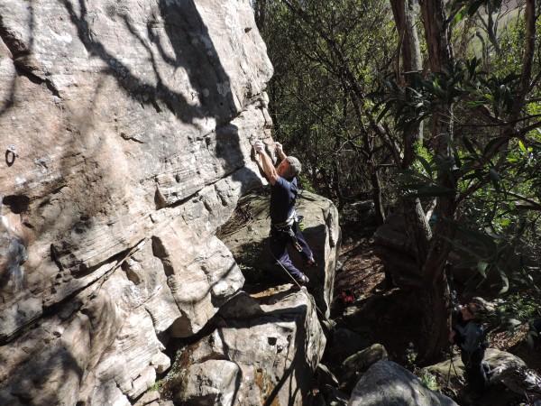 A little climbing in the woods of Balcarce