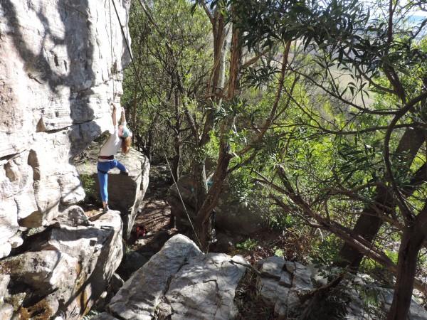 Ceci climbing the Ready Arete (1)