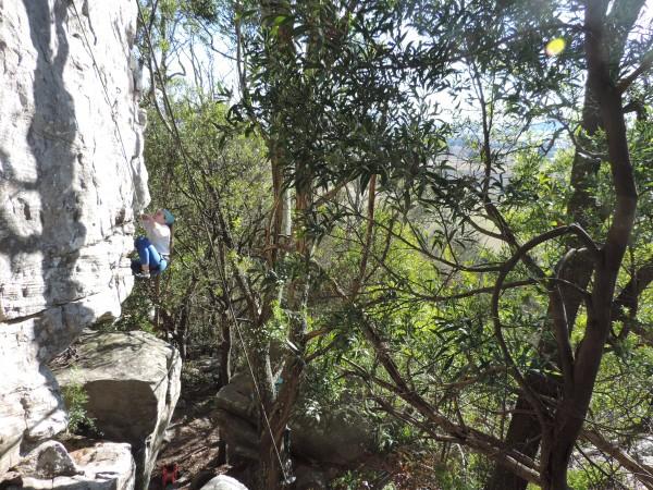 Ceci climbs the Ready Arete (2)