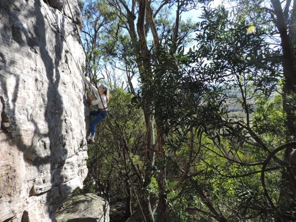 Ceci climbing the Ready Arete (3)