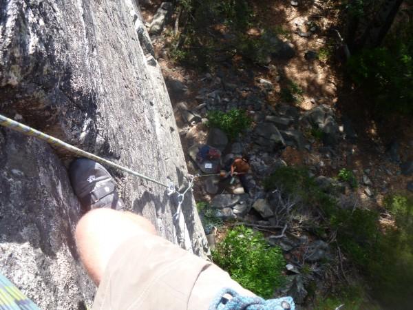 repaired knee and climbing partnership