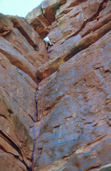 Me on the East face route in 1982.  So cool to see someone else climb ...