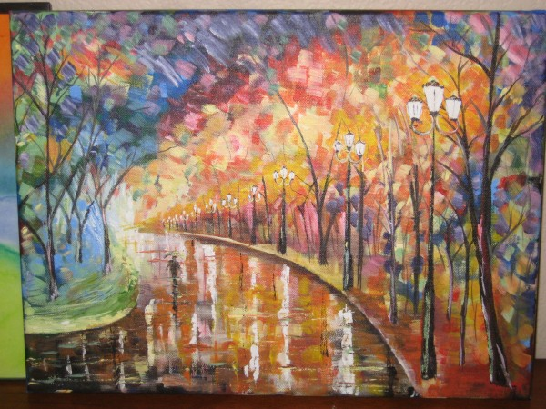 Thought i'd share my recent attempt to copy a Leonid Afremov...Peace