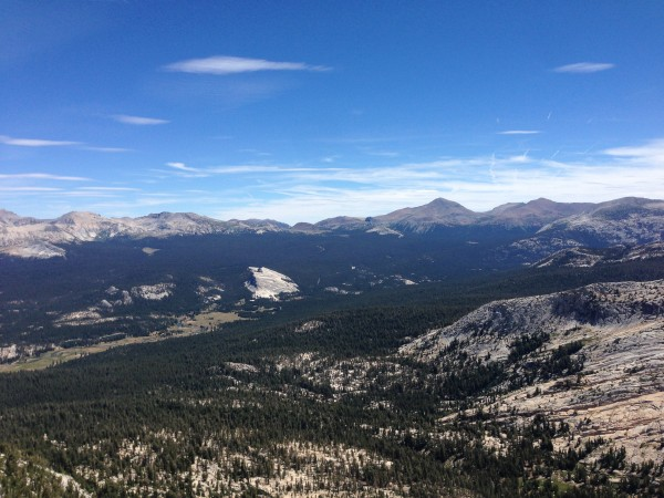 Tuolumne Meadows from Cathedral Peak