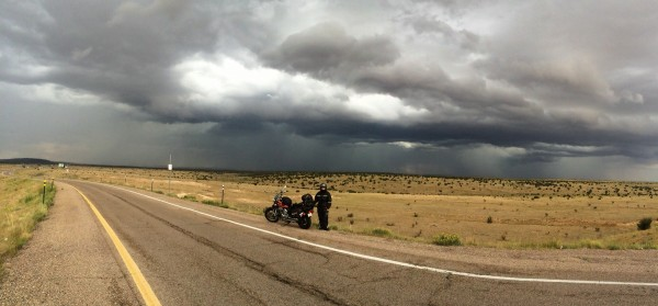 Rain near Alb,   NM