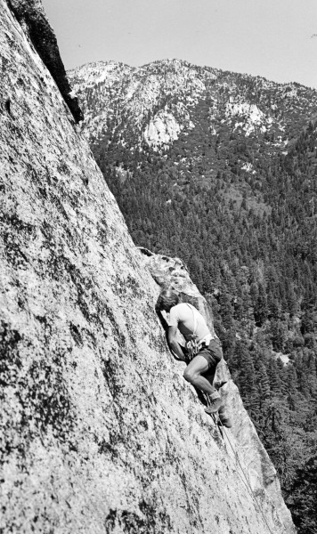 "Ivan ""Bud"" Couch on Sundance, Suicide Rock, idyllwild."