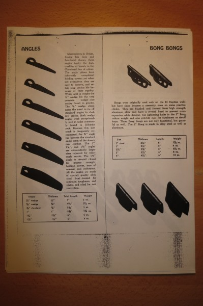 1967 Chouinard catalog