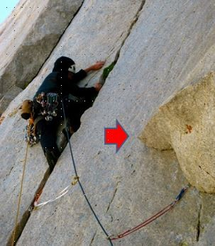 Pitch 3 - the flake where you can get the rope stuck if running the cr...
