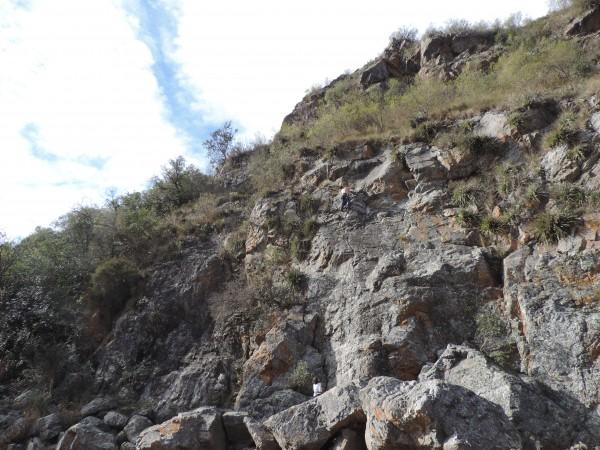 Me climbing in Alpa Corral