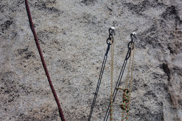 Bolts at top of pitch 2