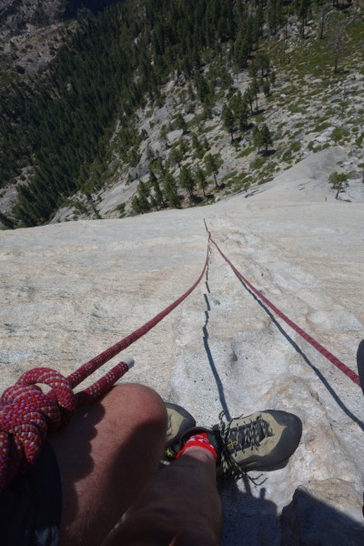 Looking down from the top of pitch 3