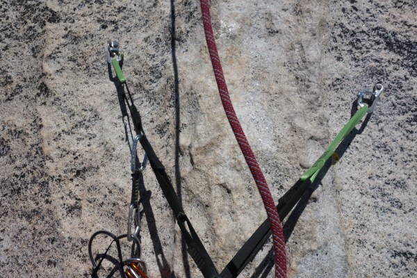 Bolts at top of pitch 3