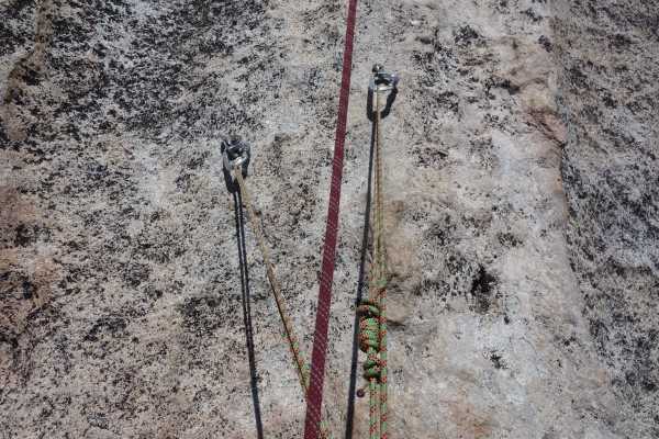 Bolts at the top of pitch 5