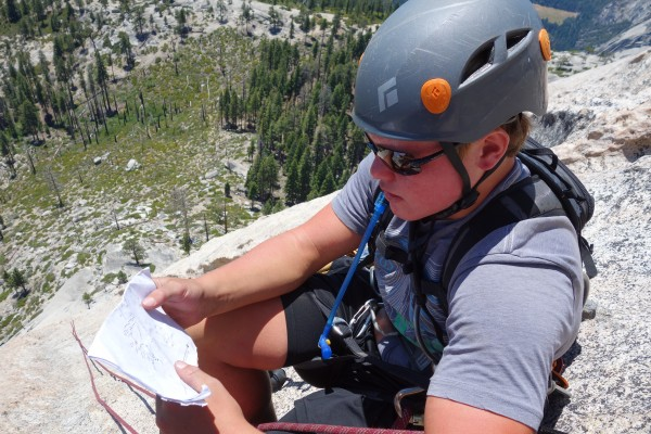 Reed consults the SuperTopo before starting pitch 7