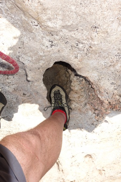 Hole at the top of pitch 5