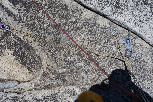 Building an anchor at the top of pitch 7