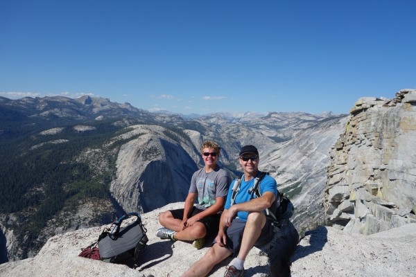 Reed and Kirt atop Half Dome