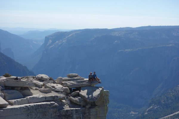 Kirt and Reed atop Half Dome