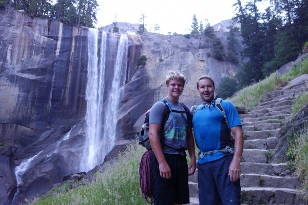 Vernal Fall had a decent flow of water