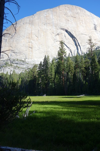 Lost Lake (more of a swamp) the and the back side of Half Dome