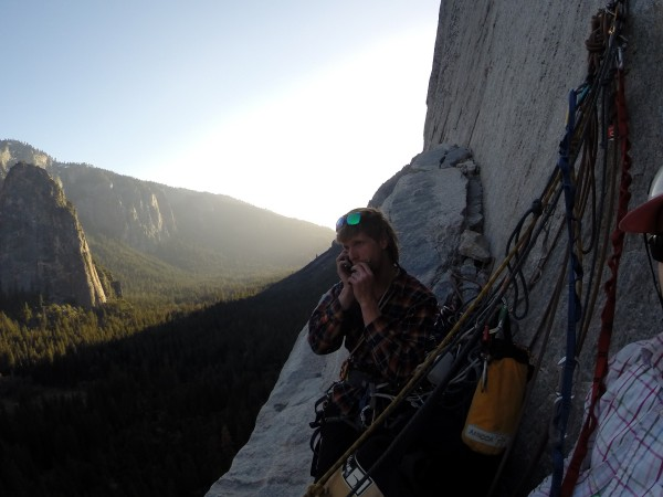 Sickle Ledge, calling the girls before heading back to the deck. <br/>