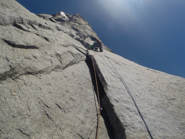 Me leaving Eagle Ledge.  I think this was the first pitch I was able t...