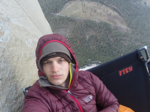 Bivy 2.  You can see El Cap meadow down below (about 2000 feet dow...