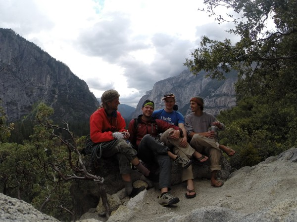 The Crew:  Jib, Todd, Myself, Oli. <br/>  <br/> This was after climbing Sereni...