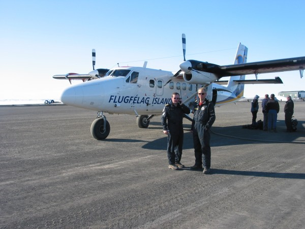 our chartered Twin Otter, workhorse of the High North - note mechanica...