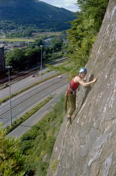 My first new route. Circa 1978. Perhaps the worst route I've ever done...
