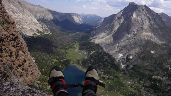 Sometimes you pick a belay ledge for the views.