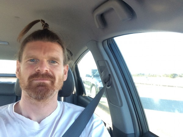 Getting bored in traffic selfie