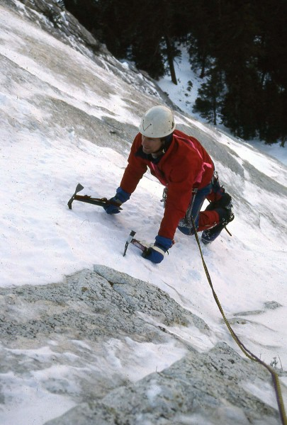 Miguel on the NE Buttress of Tahquitz Rock in 1989.