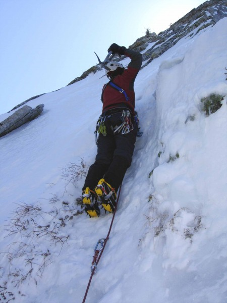 On the NE Buttress of Tahquitz Rock in 2010. Penelope May-Smrz photo.