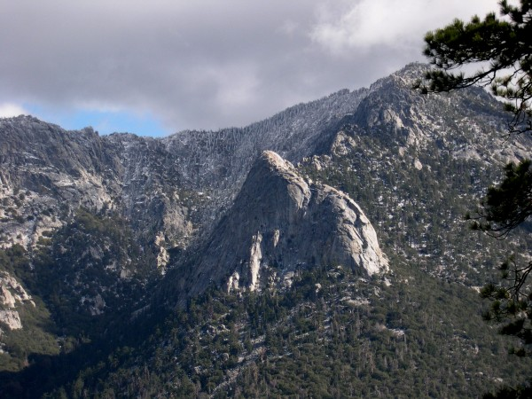 Tahquitz Rock before the first winter storm.