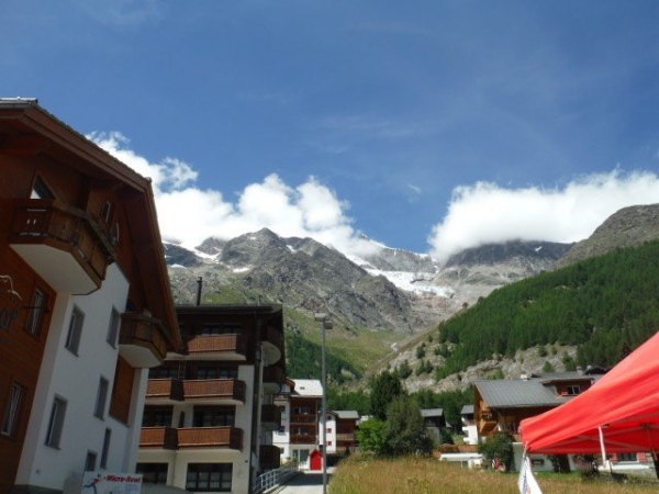 view from saas fee
