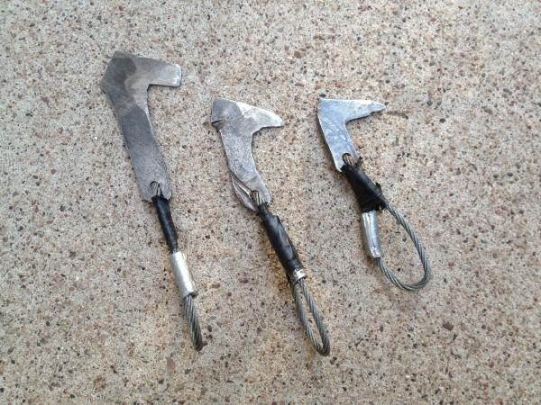 Bridwell saw blade hooks c.1998, Jim Bridwell