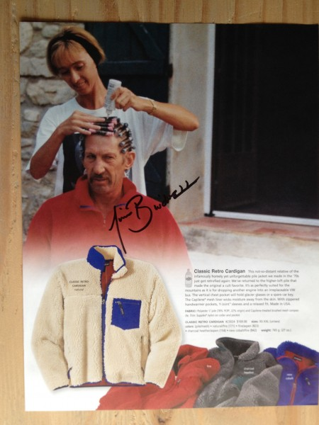 Peggy and Jim Bridwell in Patagonia catalog <br/>