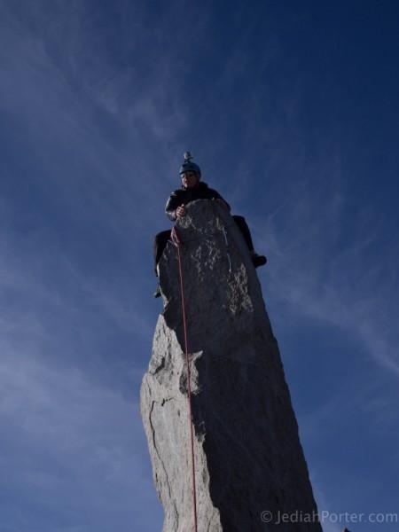 Mike sitting on Starlight Peak Summit