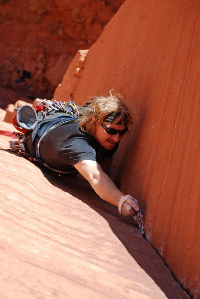 tough free climbing in this Kyran Keisling photo