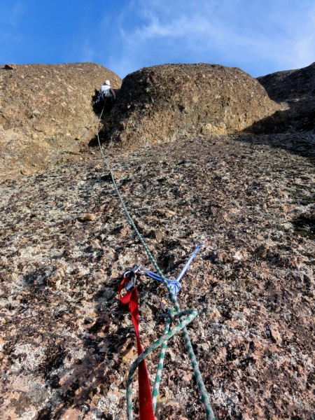 Pitch 3 anchors and Dixie moving into Pitch 4 groove.