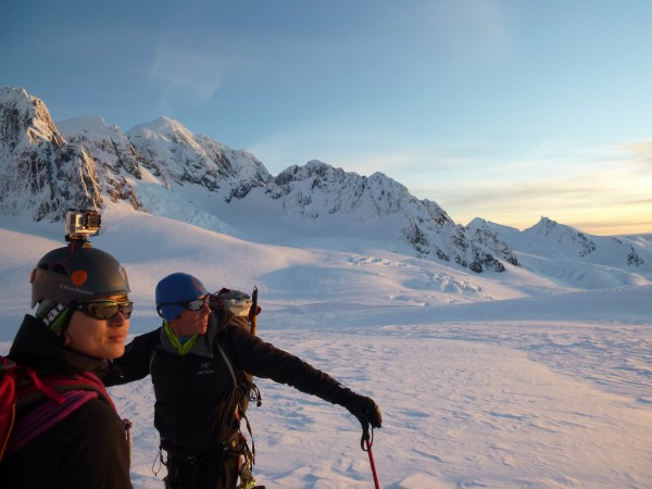 An evening stroll on the upper Fox Glacier, day 1 of 7, August 2014.