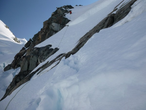 A failed attempt at Mt Walter, upper Tasman Glacier, Jan 2014. Being o...