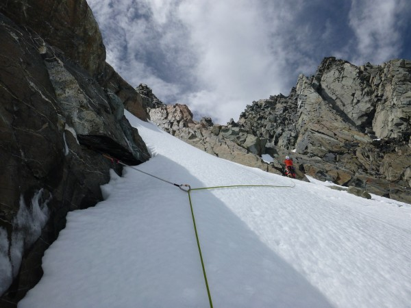 Climbing above Kelman Hut, (very) Upper Tasman Glacier, Jan 2014