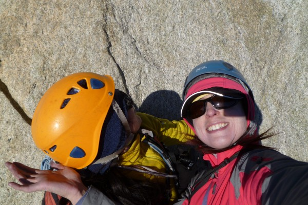 The only female rock climbing team in da mountains, yo