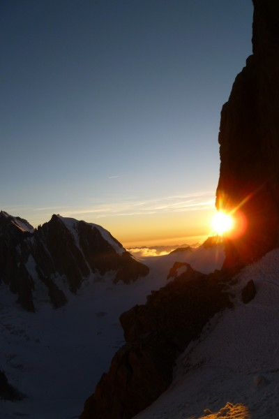 Sun setting on the Dent.
